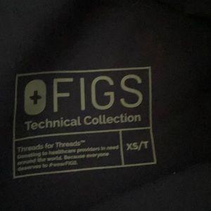 Figs xs tall navy kade cargo scrub pants